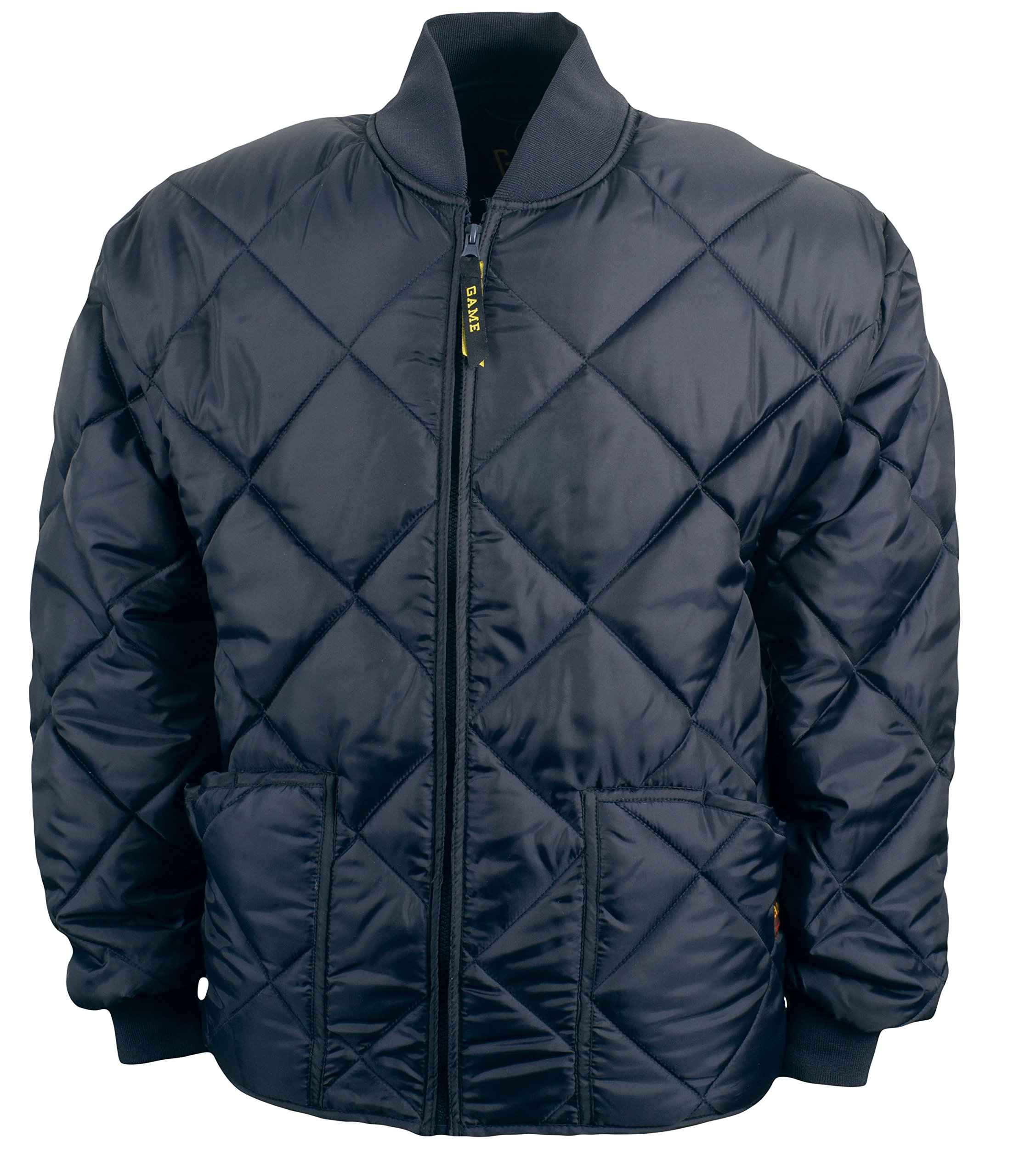 Game Sportswear Men's Diamond Quilt Jacket Large Navy by Game Sportswear