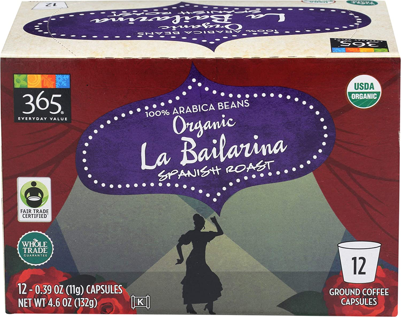 365 Everyday Value, Organic La Bailarina Coffee Capsules, 12 ct