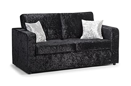 Sofá-cama de terciopelo plateado o negro lujoso: Amazon.es ...