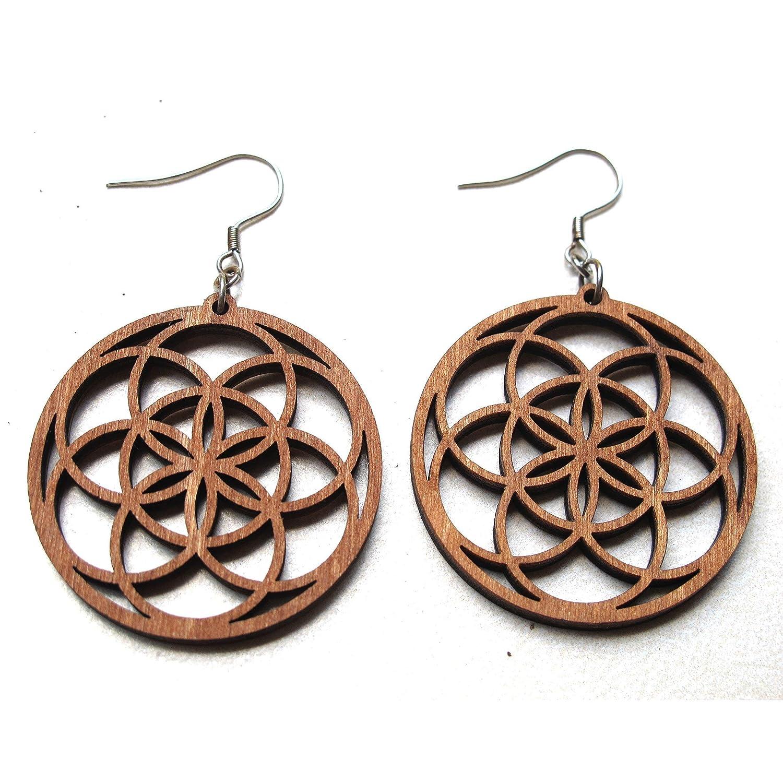 Lasercut bookcover earrings circles