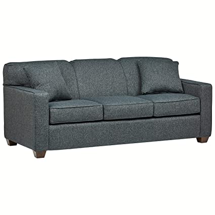 Awe Inspiring Stone Beam Fischer Queen Sized Sleeper Sofa 79W Blue Fabric Caraccident5 Cool Chair Designs And Ideas Caraccident5Info