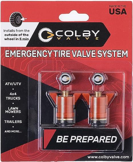 Colby Valve - Válvula de emergencia para neumáticos, 2 unidades, ideal para instalar en cualquier lugar: Amazon.es: Coche y moto