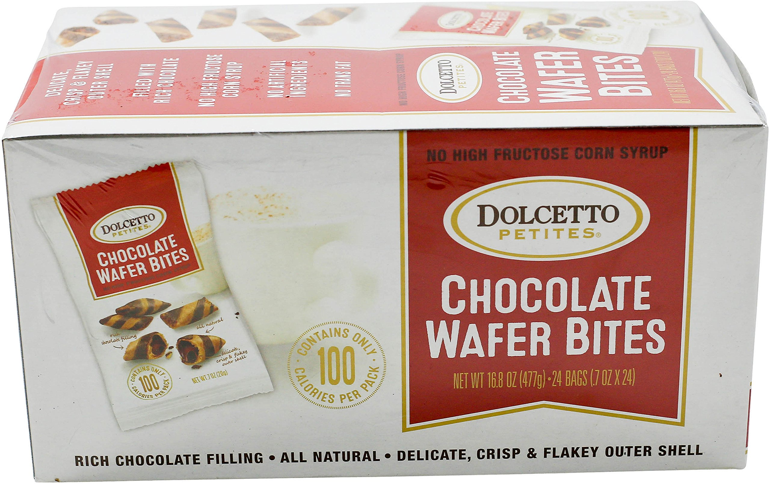 Dolcetto Chocolate-Filled Wafer Bites, 0.7 Ounce (Pack of 24) by dolcetto