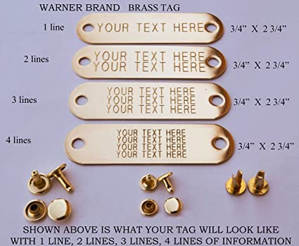 amazon com warner brand brass gold tag 1 for dog collar with 3