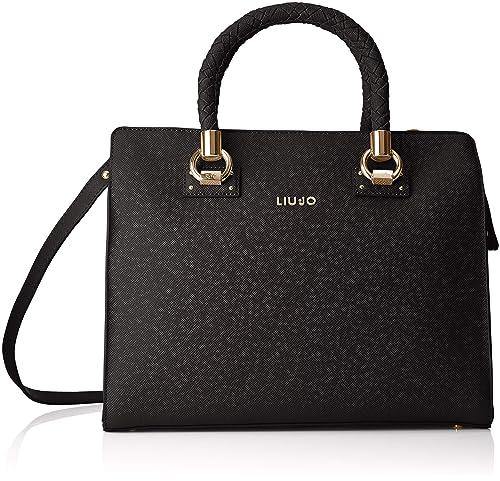 LIU JO N68099 E0087 Borse a mano Donna Nero TU  Amazon.it  Scarpe e borse 371ad29ea23
