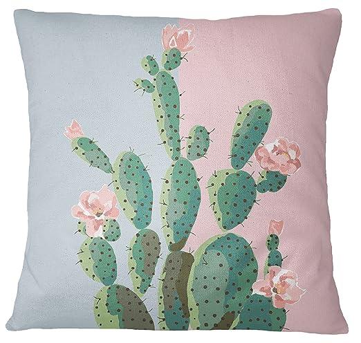 S4Sassy Cactus decorativo Imprimir Caso Cojín cuadrado ...