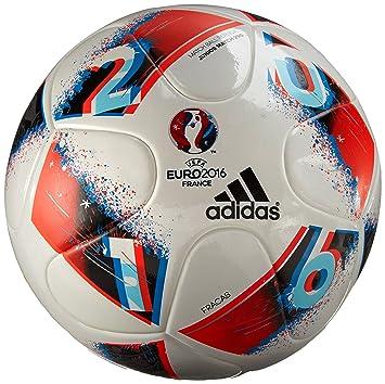 adidas Euro16 J350 Balón de fútbol, Hombre, (Blanco/Azubri/Rojsol ...