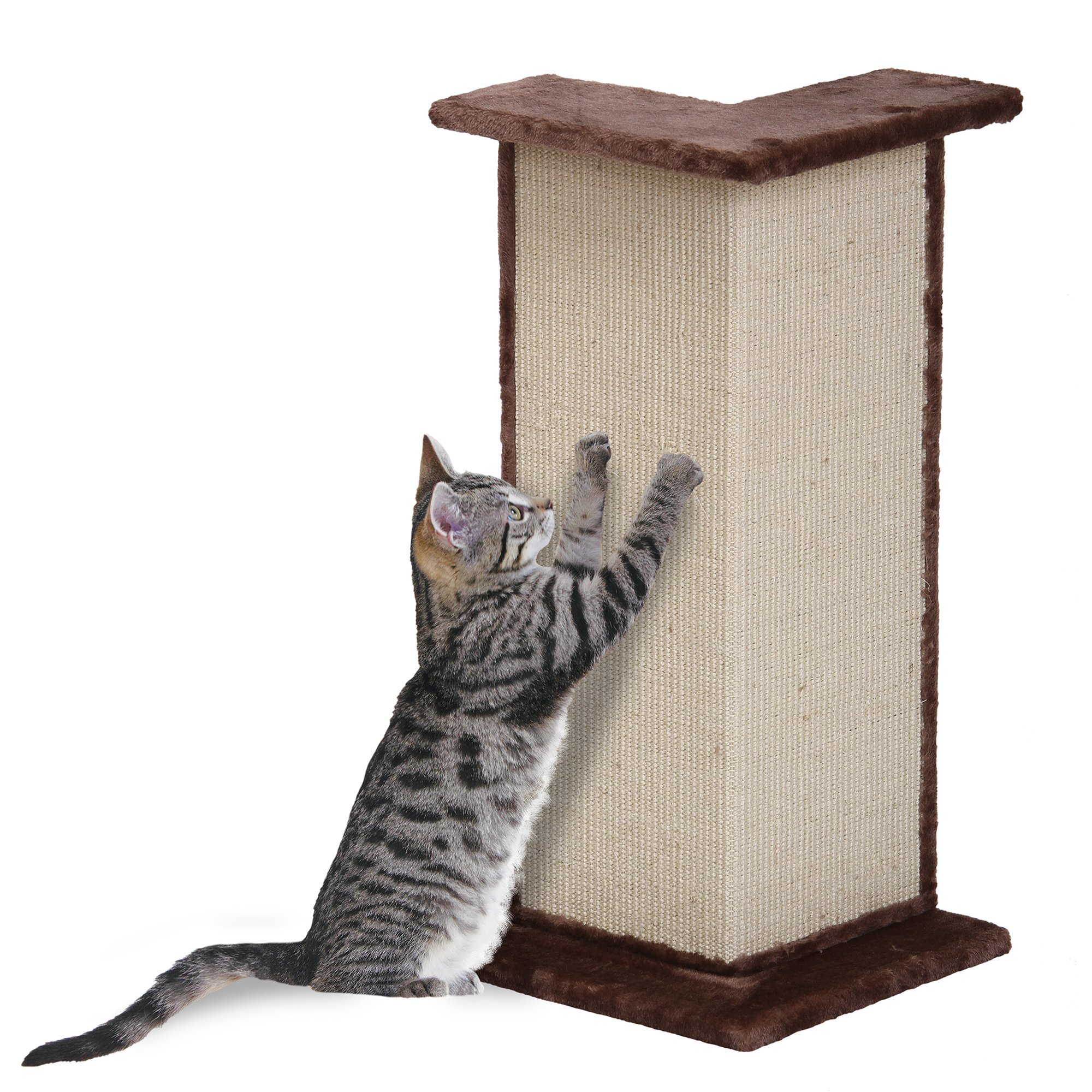 Penn-Plax Sisal Cat Scratcher Wall Corner Post and Perch by Penn-Plax