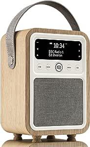 VQ Monty DAB & DAB+ Digital Radio with FM & AM, Bluetooth & Alarm Clock – Real  Wood Case Oak