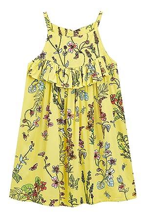 5a079df6cffa3 Next Fille Robe D Été Imprimée (3 À 16 Ans) Jaune 16 Ans  Amazon.fr ...