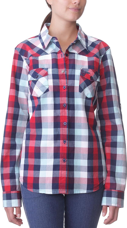 Lee Cooper - Camisa a Cuadros de Manga Larga para Mujer ...