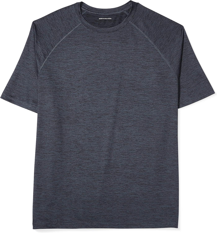 Amazon Essentials Men's Big & Tall Tech Stretch Short-Sleeve T-Shirt fit by DXL