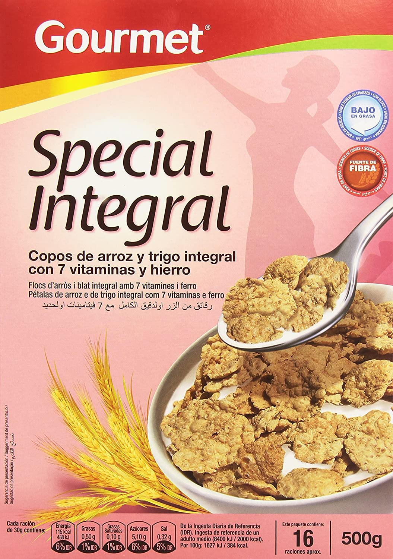 Gourmet Special Integral Copos de Arroz y Trigo Integral con 7 Vitaminas y Hierro - 500 g: Amazon.es: Amazon Pantry