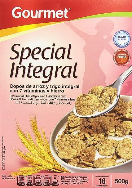 Gourmet - Special Integral - Copos de arroz y trigo integral con 7 vitaminas y hierro
