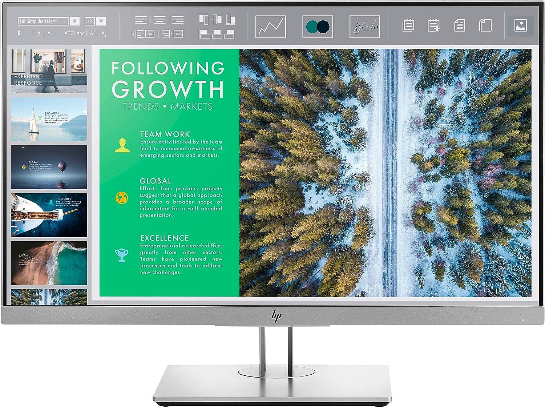 HP EliteDisplay E243 - Monitor de 23, 8 pulgadas ajusable en altura (FHD antireflejo; 1920 x 1080 a 60Hz; IPS LED, 250cd/m; 5ms; 16:9; 1 x VGA; 1 x HDMI 1.4; 1 x DisplayPort 1.2; 2 x USB 3.0): Hp: Amazon.es: Informática
