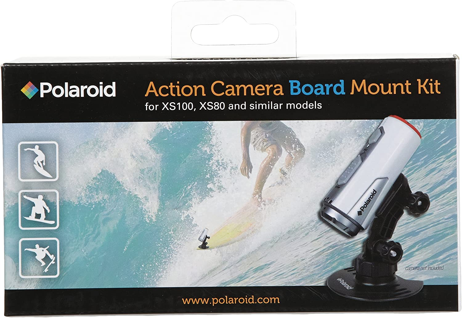 Polaroid Board Mount for XS80 /& XS100 Action Cameras