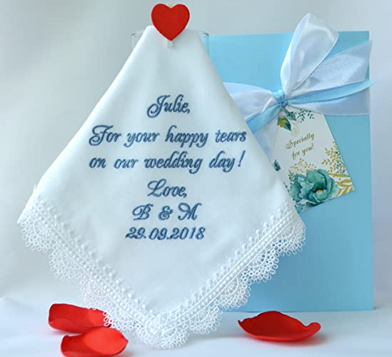 Amazon Personalized Wedding Handkerchief For Your Happy Tears