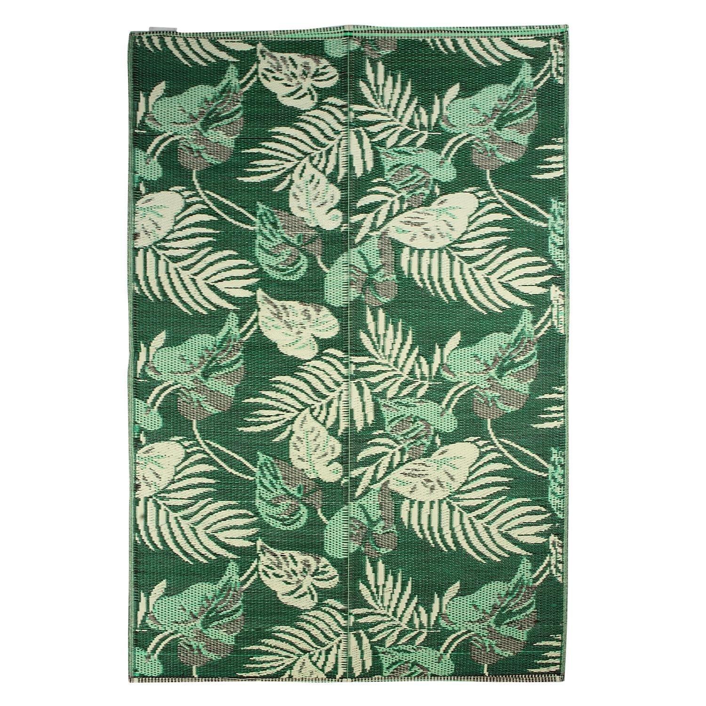 SAVON Plastic Mat Green Forest Design Sleeping Rug Floor Mat Lightweight