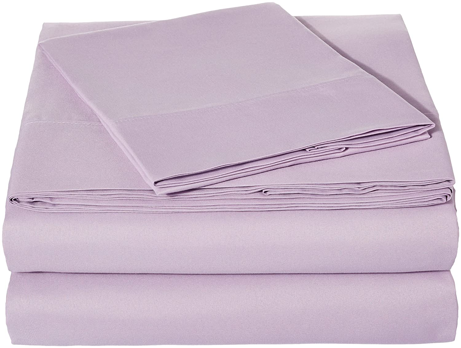 AmazonBasics Microfiber Sheet Set - Twin, Frosted Lavender