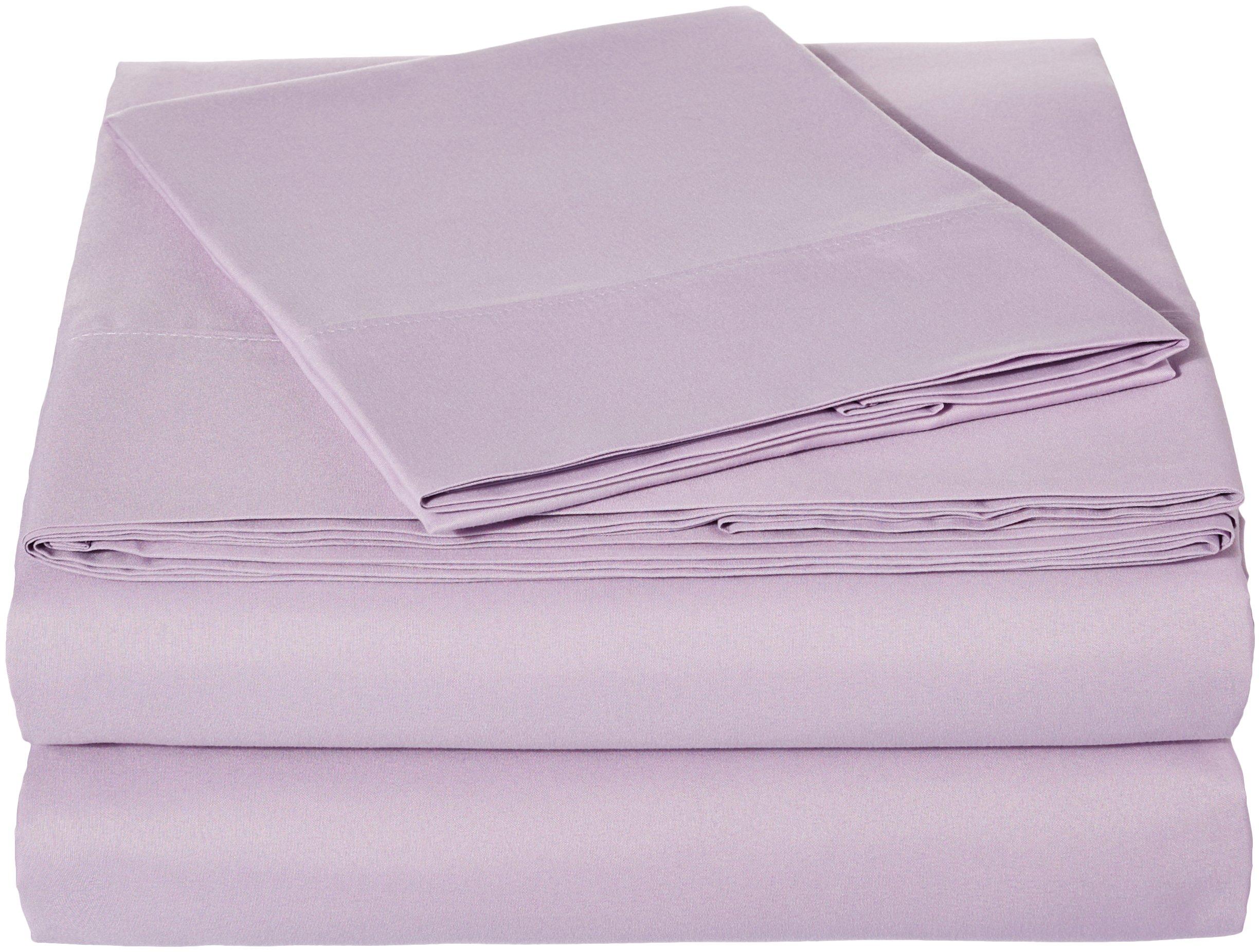 AmazonBasics Microfiber Sheet Set - Twin Extra-Long, Frosted Lavender