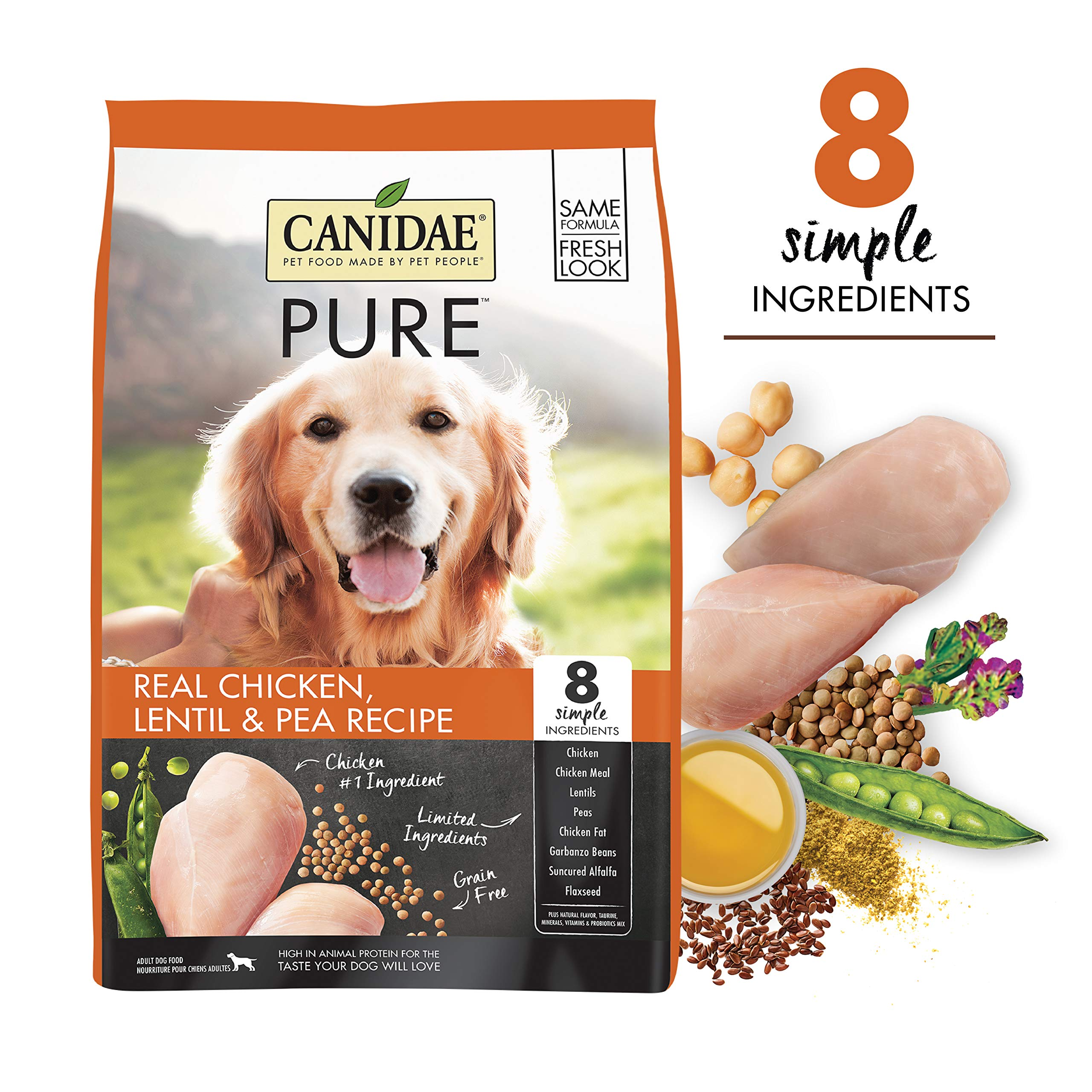 CANIDAE PURE Real Chicken, Limited Ingredient, Grain Free Premium Dry Dog Food by CANIDAE