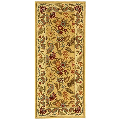 Safavieh Chelsea Collection HK141A Hand-Hooked Ivory Premium Wool Runner 2 6 x 8