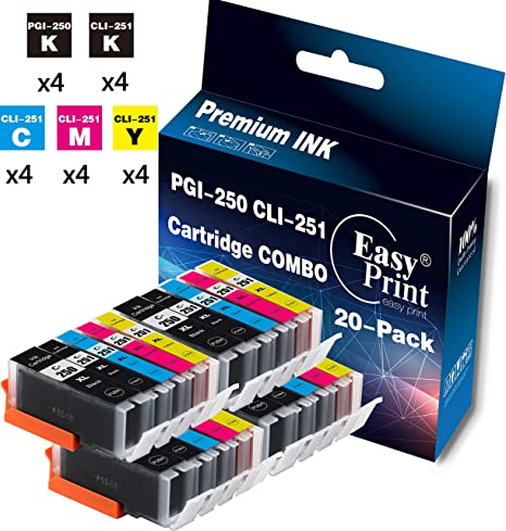 36 PK Premium Ink Cartridges for Series PGI-250XL CLI-251XL MG7520 iP8720