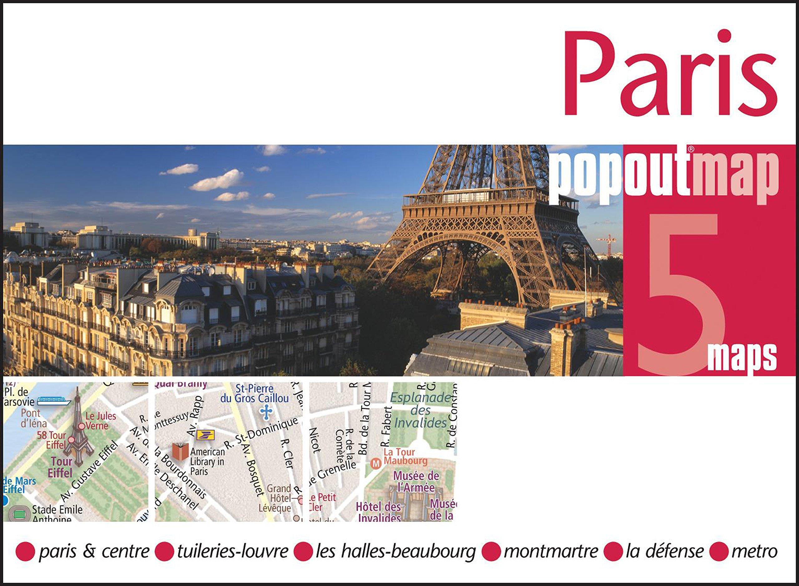 Paris PopOut Map - handy pocket size pop up map of Paris including a ...