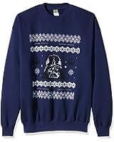 Plastic Head Men's Star Wars Darth Vader CSW Banded Collar Long Sleeve Sweatshirt