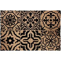 Déco Tapis PAILLASSON Rectangle Coco Imprime LISBONNE, Matériel Synthétique, Multicolore, 60x40 cm