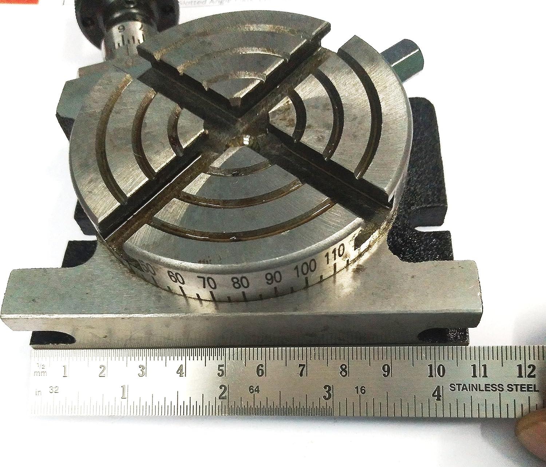 New 7,6/cm//80/mm Regular Table rotative et 80/mm Mondial 4/m/âchoire Mandrin plaque de fond pour ling/énierie des outils de fraisage