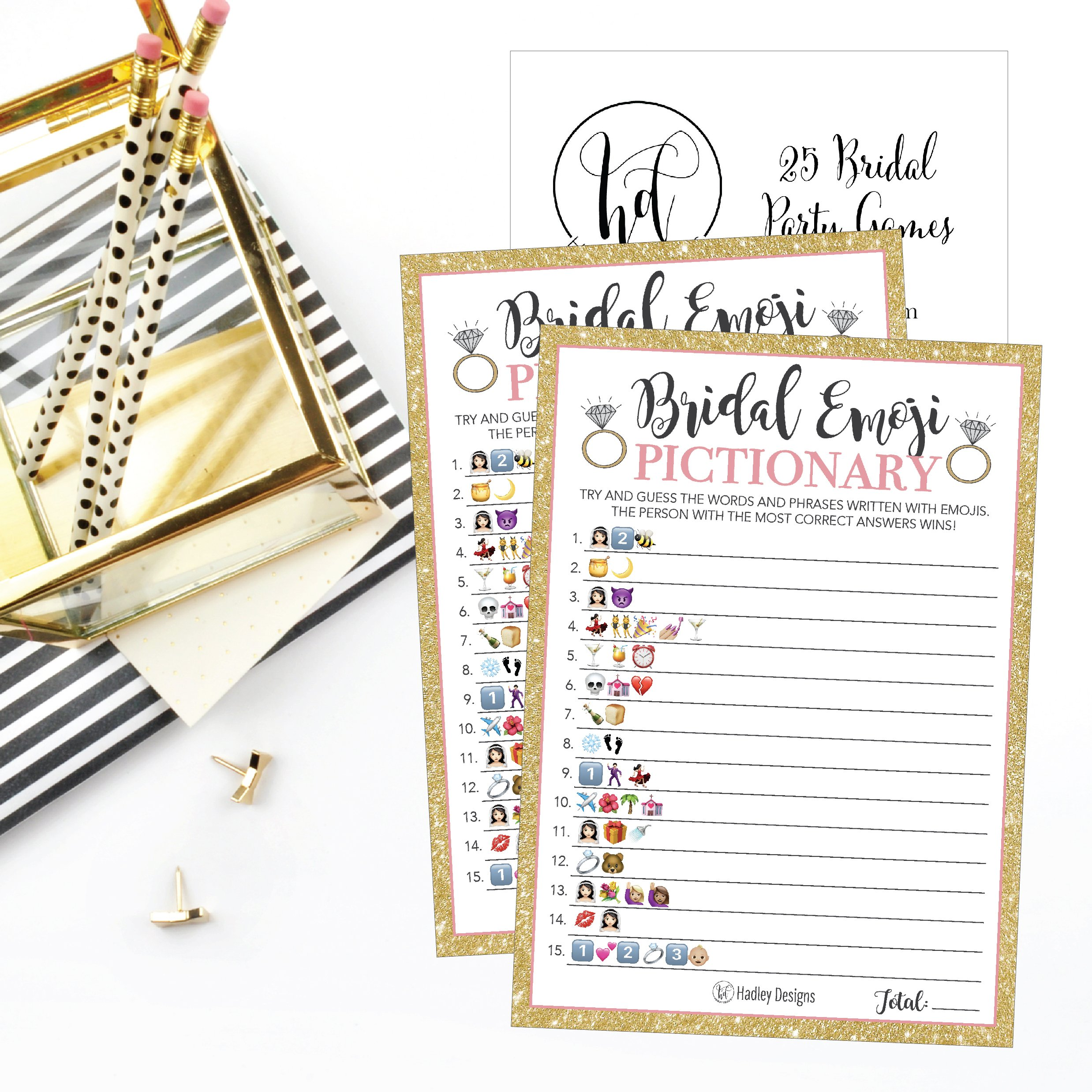 25 emoji pictionary bridal shower games ideas wedding shower bachelorette or engagement party for men and women couples cute funny board kit bundle set