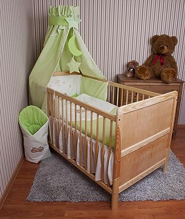 Amilian Baby Bettwasche Himmel Nestchen Bettset Mit Stickerei