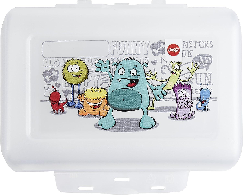 Emsa 514482 Brotdose für Kinder Herausnehmbare Trennwand
