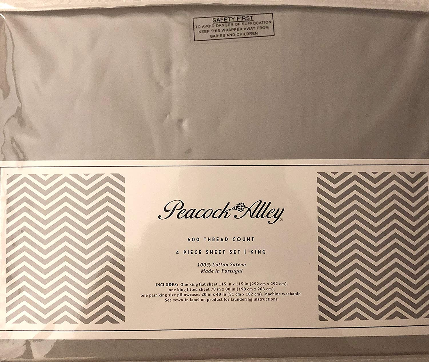 600 TC King Set Black Label Cotton Sheets Flat,Fitted /& 2 pillow cs-Ivory