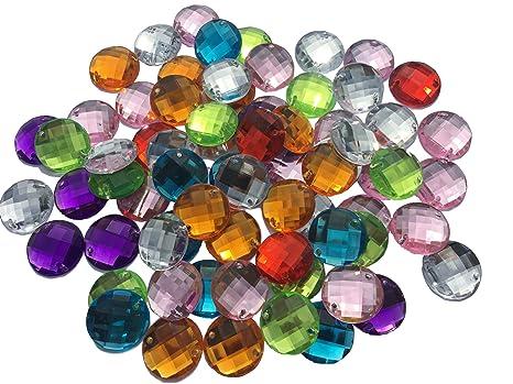 fe9d3e3ccf53 Piedras brillantes acrílicas para coser de Crystal King  multicolores