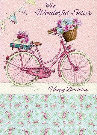 To A Wonderful Schwester Happy Birthday Nur Schreiben Geburtstag