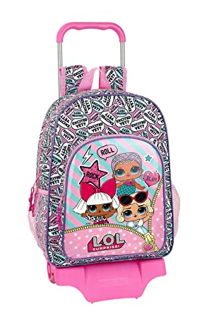 SAFTA - LOL Surprise Oficial Mochila Escolar Grande con Carro: Amazon.es: Equipaje