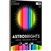 "Astrobrights Colored Cardstock, 8.5"" x 11"", 65 lb / 176 gsm, ""Spectrum"" 25-Color Assortment, 75 Sheets (80944-01)"