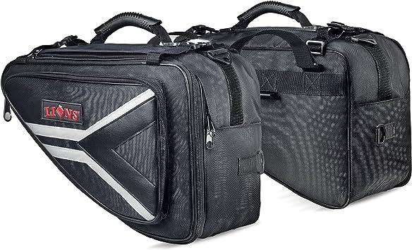 Saddle Bags Expandable Throw Over Panniers Saddlebag Motorcycle Travel Luggage