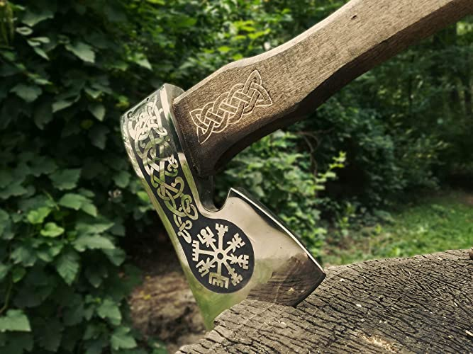Amazon com: Hand forged Viking axe High carbon steel