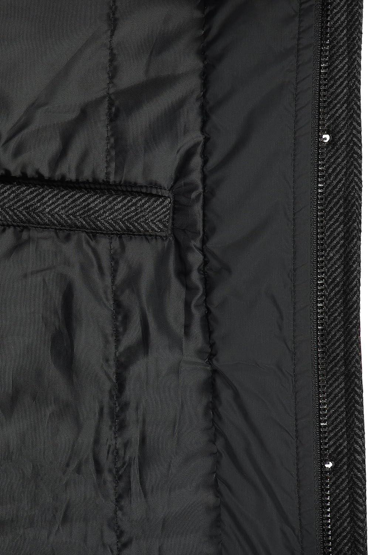 Indicode Brandan Cappotto Classico di Lana Giacca Lunga Parka Invernale da Uomo con Collo Alto