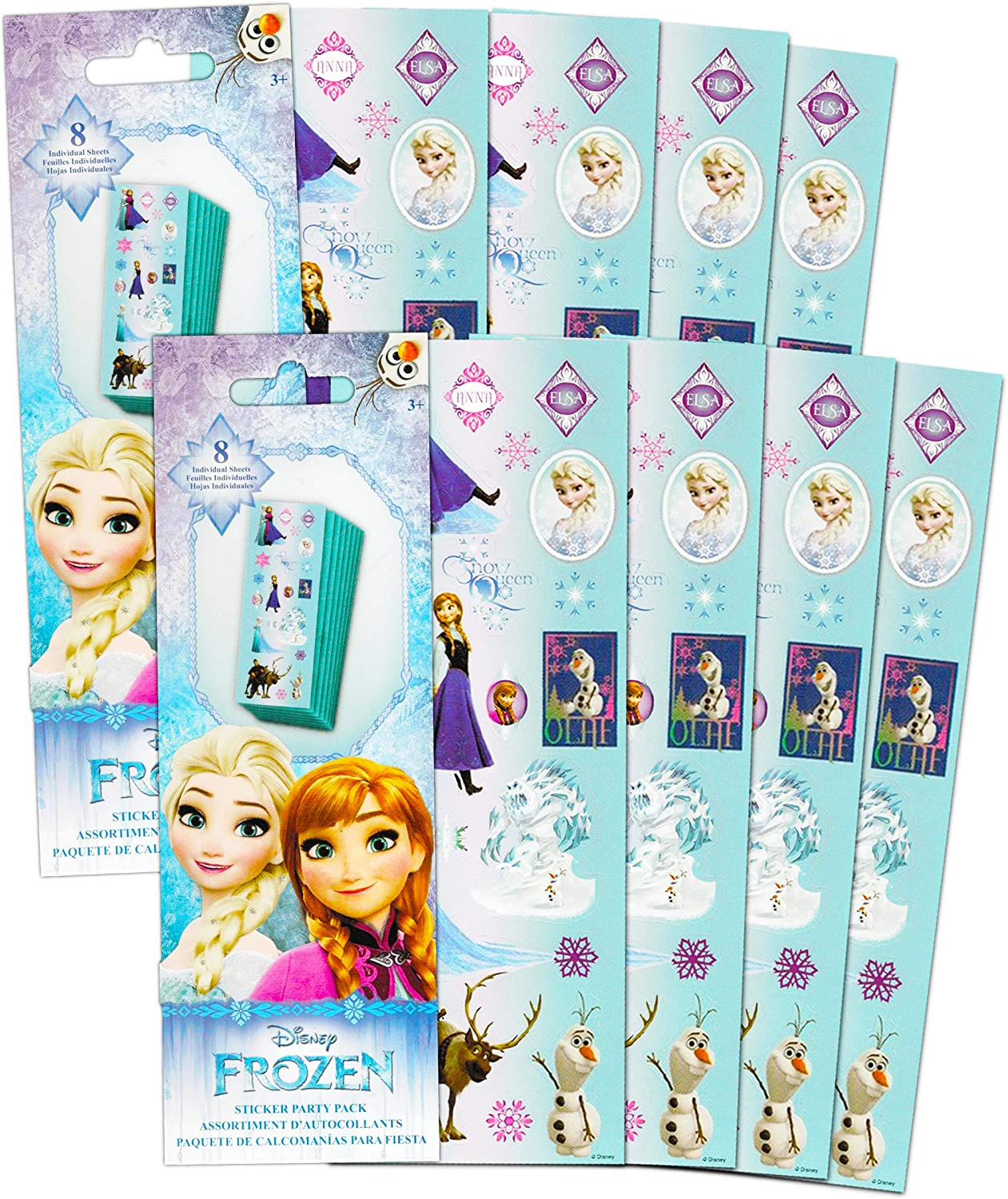 Frozen Nail Stickers Kids Girls Fun Party Favour Party Bag//Loot Bag Filler