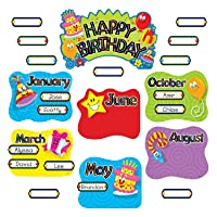 TREND Happy Birthday Mini Bulletin Board Set, 47-Pieces (T8709MP)