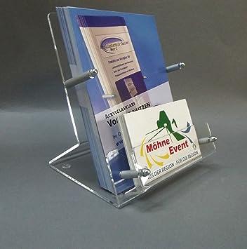Flyerständer Prospekt Ständer Mit Visitenkarten Ständer Din A6 Aus Acrylglas