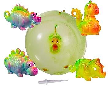 WW Global Trading Pelota Inflable de Dinosaurio para niñas y niños ...