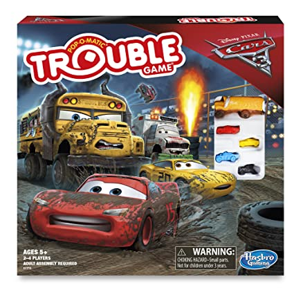 Amazoncom Cars 3 Trouble Board Game Toys Games