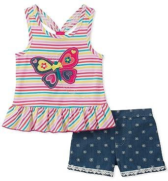 4e0a6bd27 Amazon.com  Kids Headquarters Baby Girls 2 Pieces Shorts Set  Clothing