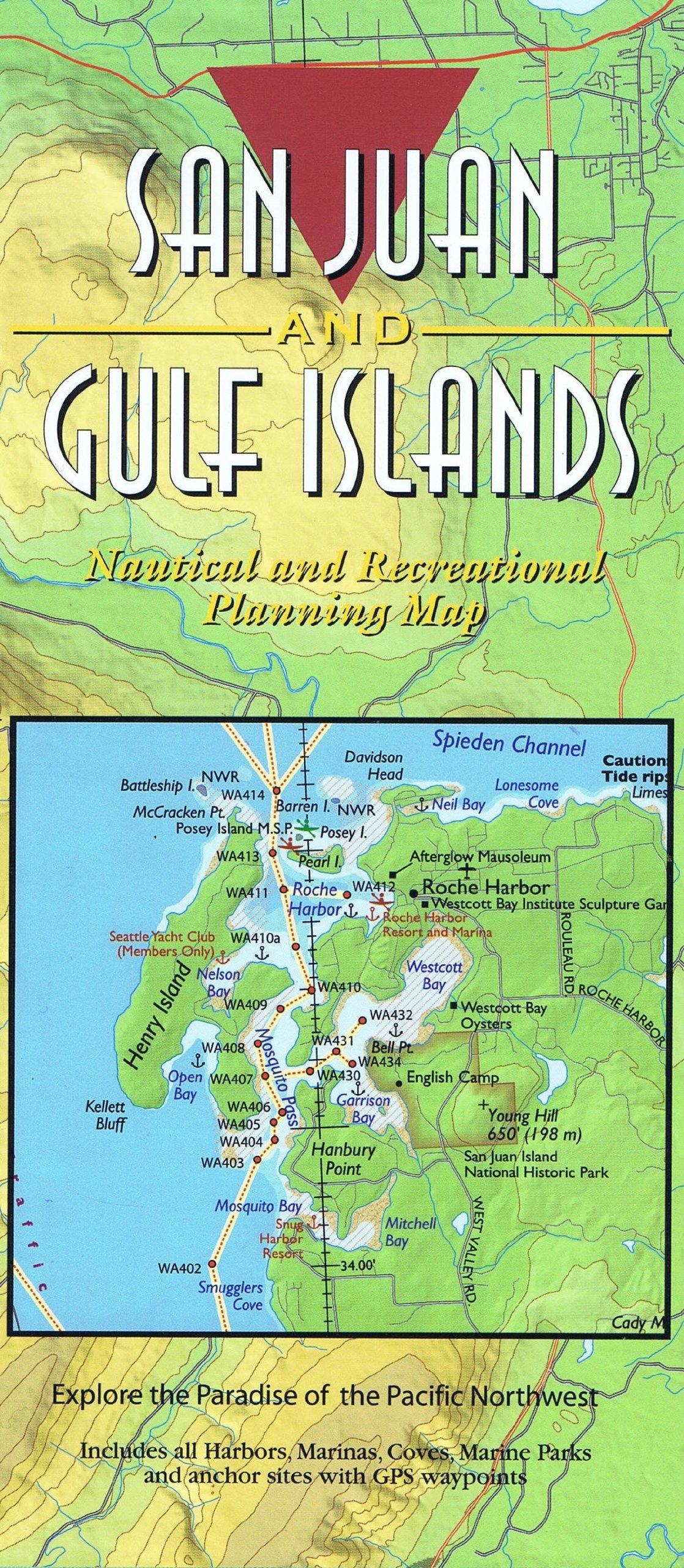 Read Online San Juan Island & Gulf Islands Nautical Recreational Map - Laminated pdf epub
