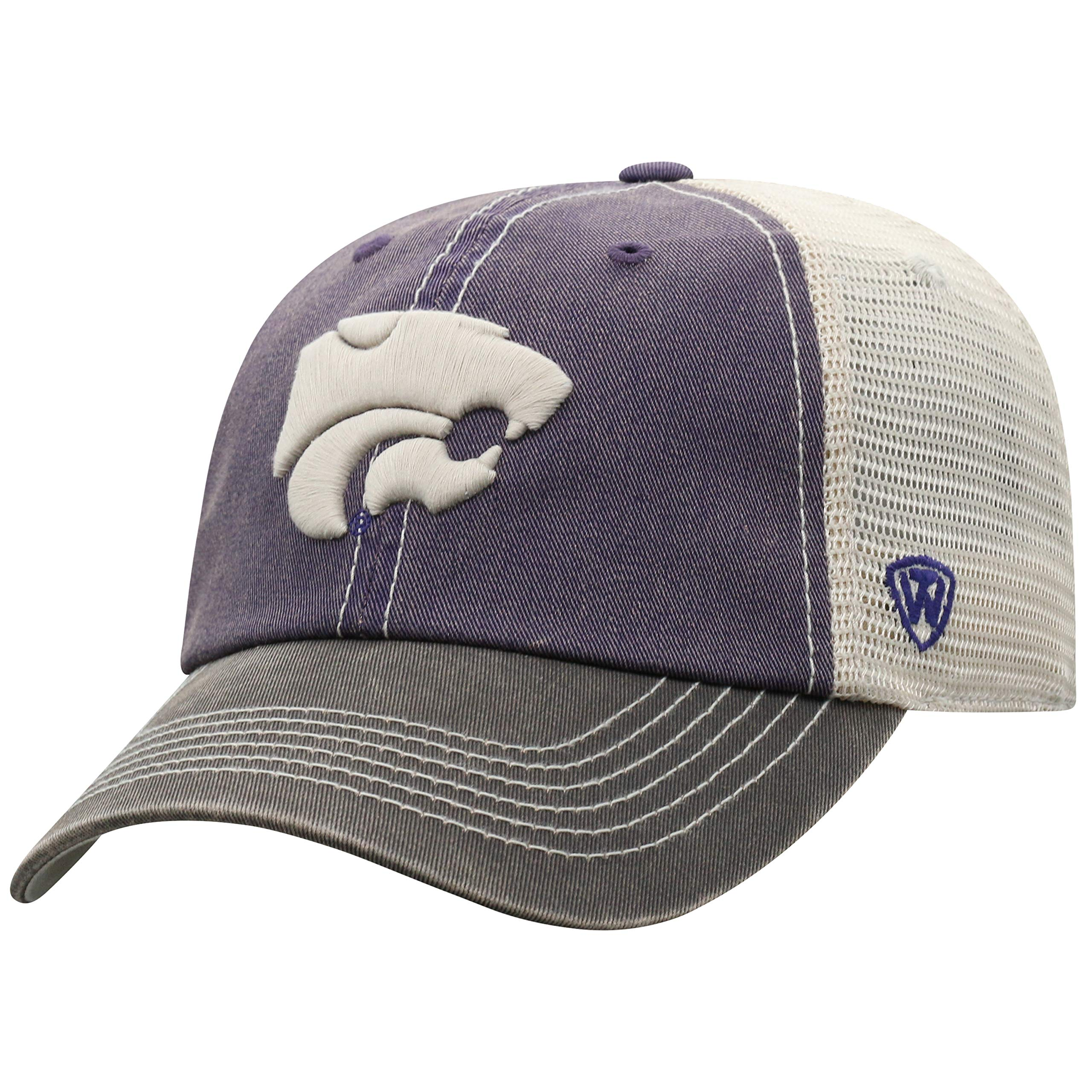 Top of the World NCAA Kansas State Wildcats Offroad Snapback Mesh Back Adjustable Hat, One Size, Purple/Charcoal/Khaki